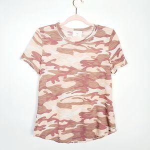Anthropologie T.la Pink Camo T Shirt